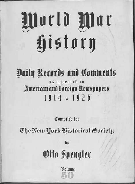 World War history : daily records and comments as appeared in American and foreign newspapers, 1914-1926 (New York), January 12, 1915, (1915 January 12-16)