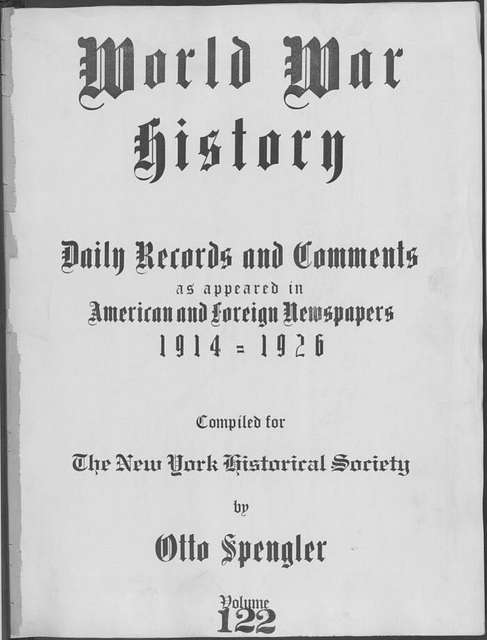 World War history : daily records and comments as appeared in American and foreign newspapers, 1914-1926 (New York), November 11, 1915, (1915 November 11-14)