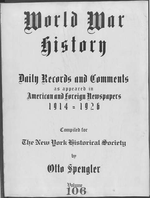 World War history : daily records and comments as appeared in American and foreign newspapers, 1914-1926 (New York), September 13, 1915, (1915 September 13-15)