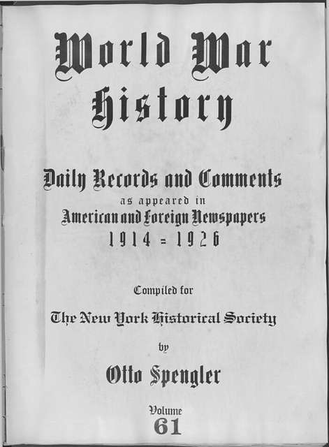 World War history : daily records and comments as appeared in American and foreign newspapers, 1914-1926 (New York), February 24, 1915, (1915 February 24-28)
