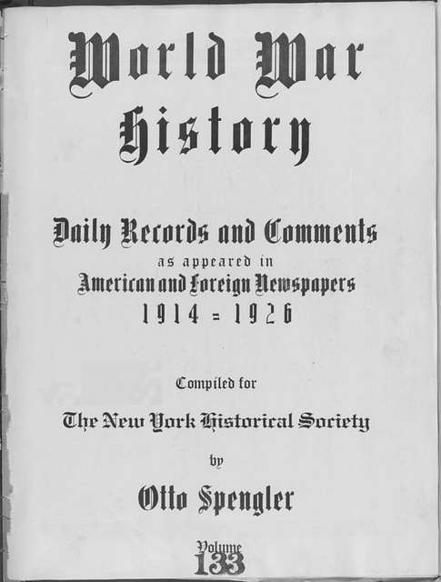 World War history : daily records and comments as appeared in American and foreign newspapers, 1914-1926 (New York), December 22, 1915, (1915 December 22-26)