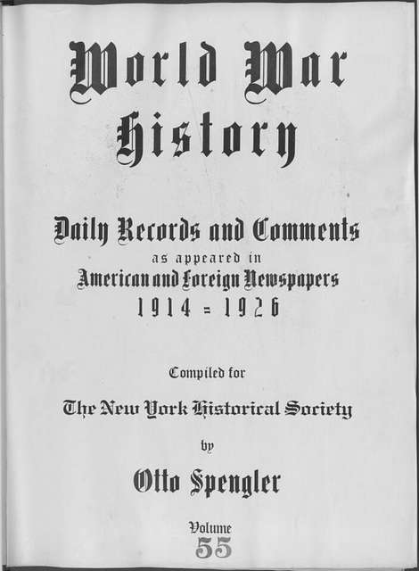 World War history : daily records and comments as appeared in American and foreign newspapers, 1914-1926 (New York), January 31, 1915, (1915 January 31- February 2)
