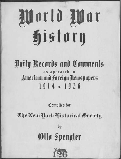 World War history : daily records and comments as appeared in American and foreign newspapers, 1914-1926 (New York), November 24, 1915, (1915 November 24-29)