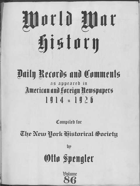 World War history : daily records and comments as appeared in American and foreign newspapers, 1914-1926 (New York), June 15, 1915, (1915 June 15-18)