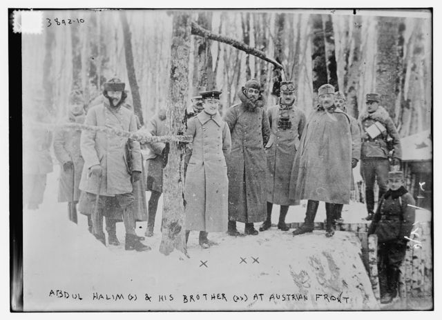 Abdul Halim (x) & his brother (xx) at Austrian Front