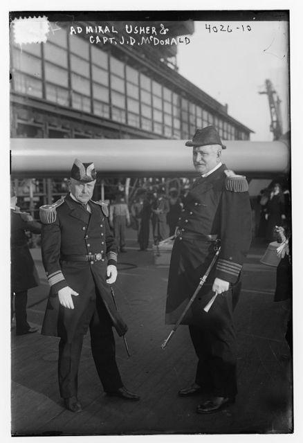 Admiral Usher & Capt. J.D. McDonald