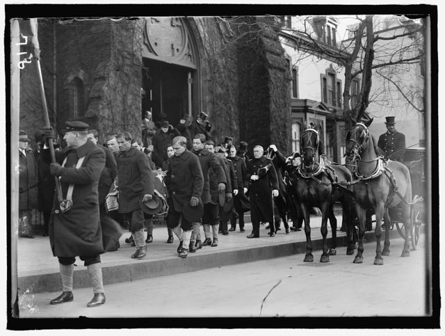 ALL SOUL'S CHURCH. UNITARIAN. 14TH AND L STREETS, N.W. FUNERAL OF ADMIRAL ROBLEY D. EVANS