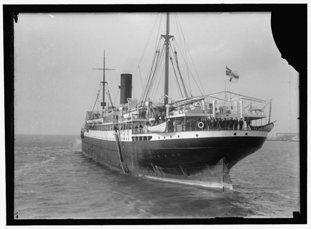 APPAM, H.M.S. BRITISH SHIP CAPTURED BY GERMANS, INTERNED IN U.S.