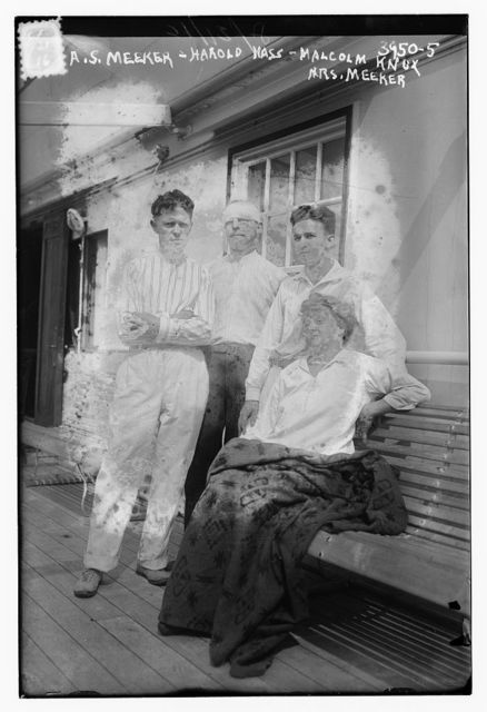 A.S. Meeker, Harold Hass [i.e. Haas], Malcom Knox, Mrs. Meeker