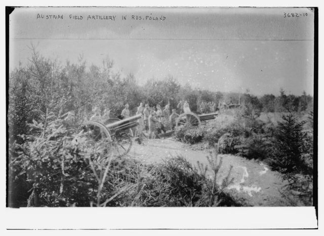 Austrian artillery in Russ. [i.e., Russian] Poland, 2/10/16