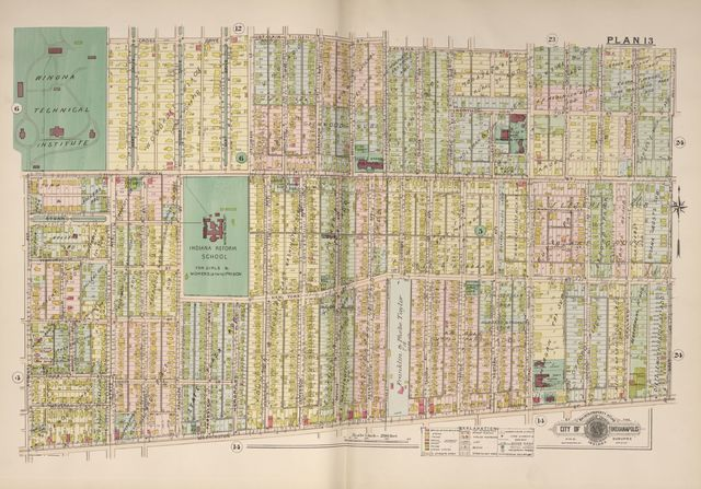 Baist's real estate atlas of surveys of Indianapolis and vicinity, Indiana : complete in one volume : compiled and published from official records, private plans and actual surveys /