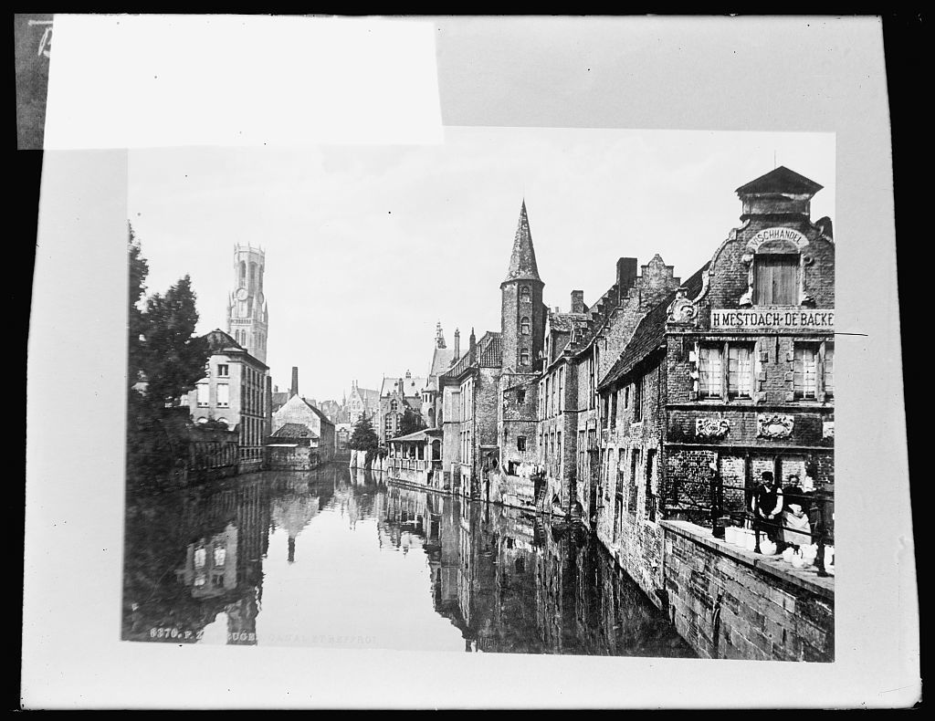 Belgium, canal at Bruges