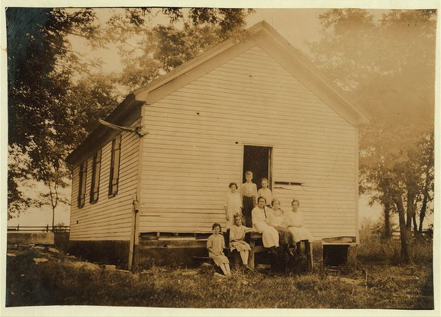 Bell School opened yesterday with only 8 in school. Probable it will be closed.  Location: Nicholas County, Kentucky / Lewis W. Hine.