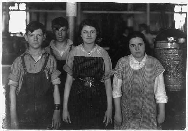 Bernadette Blanchette. 9 year old French girl whose father and 16 year old brother are in Kerr Thread mill.  Location: Fall River, Massachusetts / Lewis W. Hine.