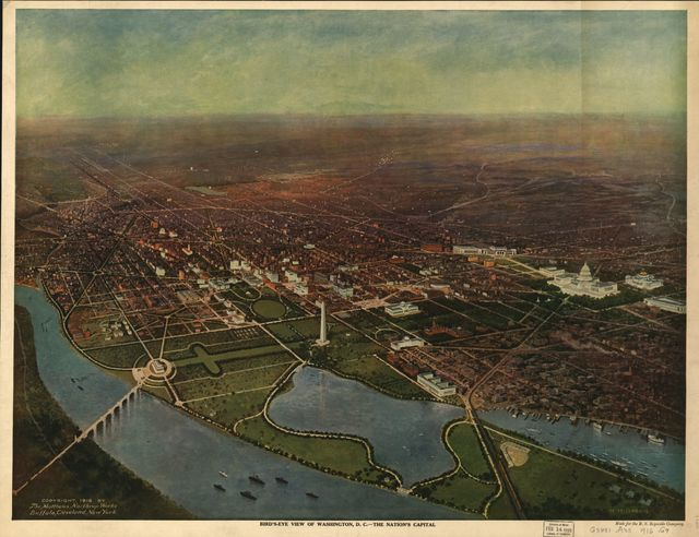 Bird's-eye view of Washington, D.C.--the nation's capital /