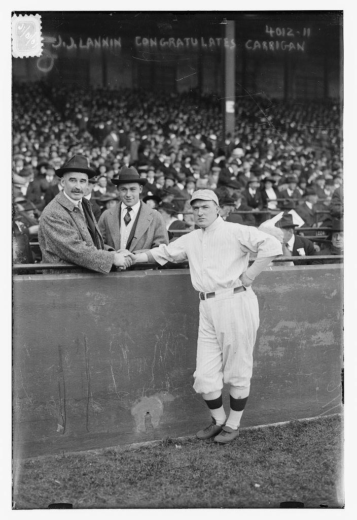 [Boston AL owner Joseph J. Lannin & manger Bill Carrigan (baseball)]