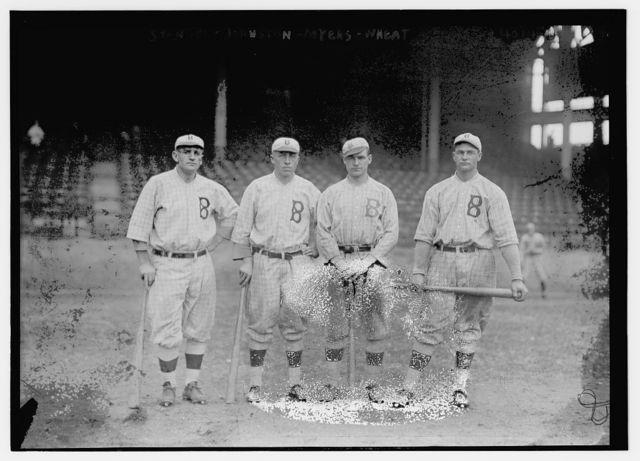 [Casey Stengel, Jimmy Johnston, Hy Myers, Zack Wheat, Brooklyn NL (baseball)]