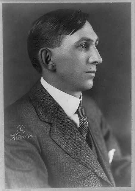 [Charles Wakefield Cadman, head-and-shoulders portrait, right profile]