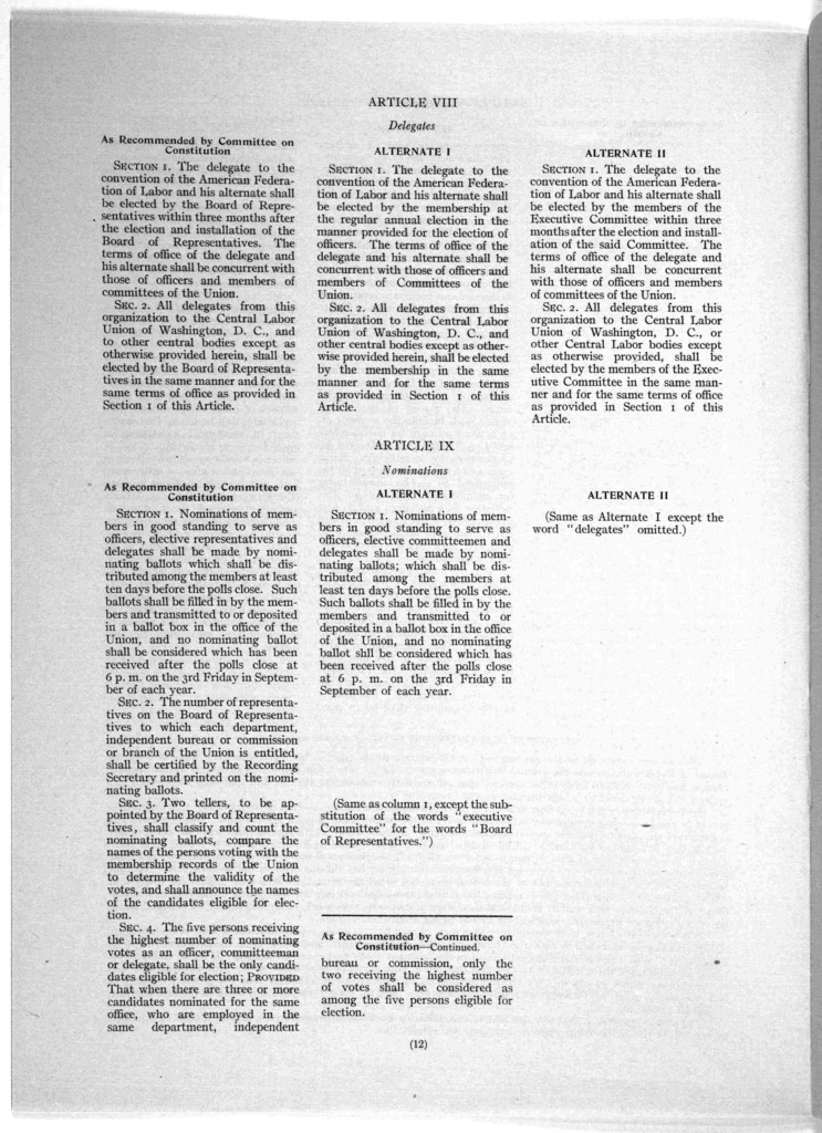 ... Constitution as reported by the committee on constitutions, and alternates submitted for referendum vote to membership, by authority of resolutions adopted in open meeting in National rifle armory on April 21, 1916. [Washington, D. C. 1916].