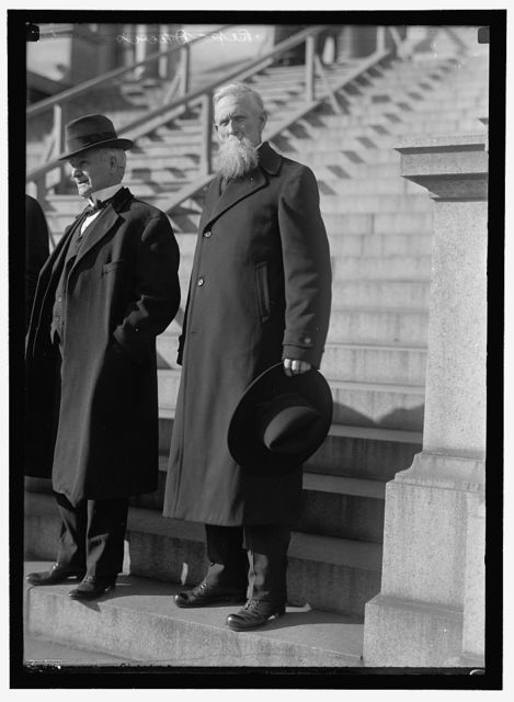 DAVIS, JAMES HARVEY, 'CYCLONE DAVIS.' REP. FROM TEXAS, 1915-1917. RIGHT; HARDY, RUFUS, REP. FROM TEXAS, 1917-1923. LEFT