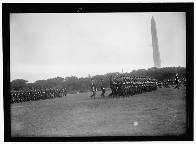 DISTRICT OF COLUMBIA PUBLIC SCHOOLS. HIGH SCHOOL CADETS ON THE MALL