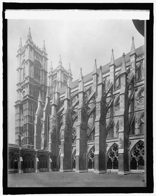 England, Westminster Abbey, London, cloisters & tower