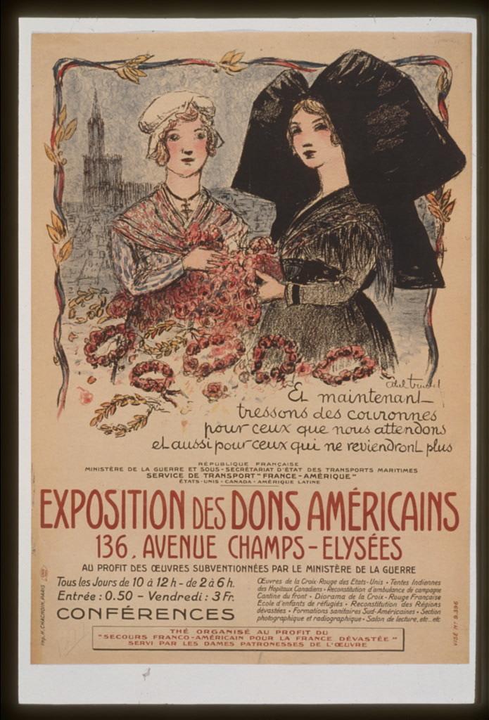 Exposition des dons américains . . .