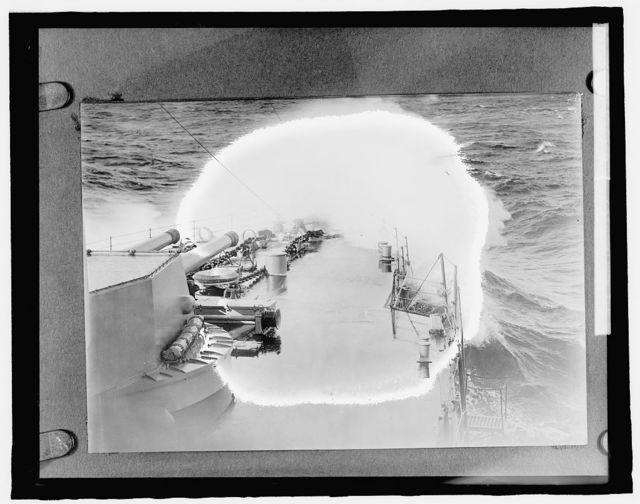 Forward deck of battleship