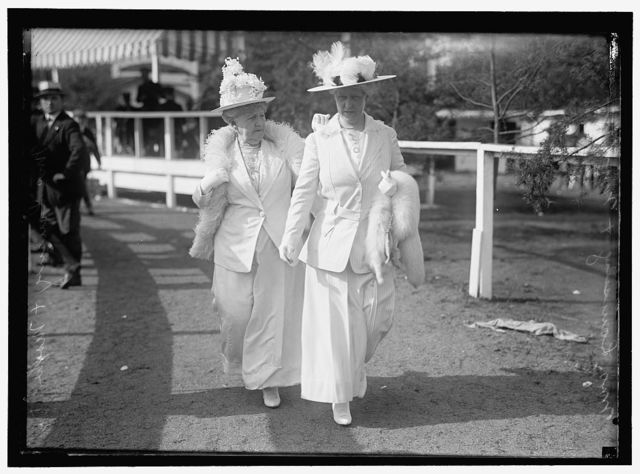 FOSTER, MRS. JOHN W., AT HORSE SHOW, L., WITH DAUGHTER, MRS. ROBERT LANSING