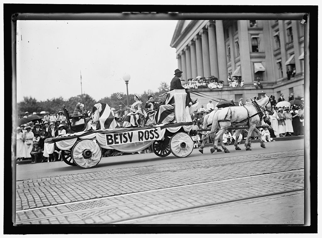 FOURTH OF JULY PARADES. FLOAT: 'BETSY ROSS'