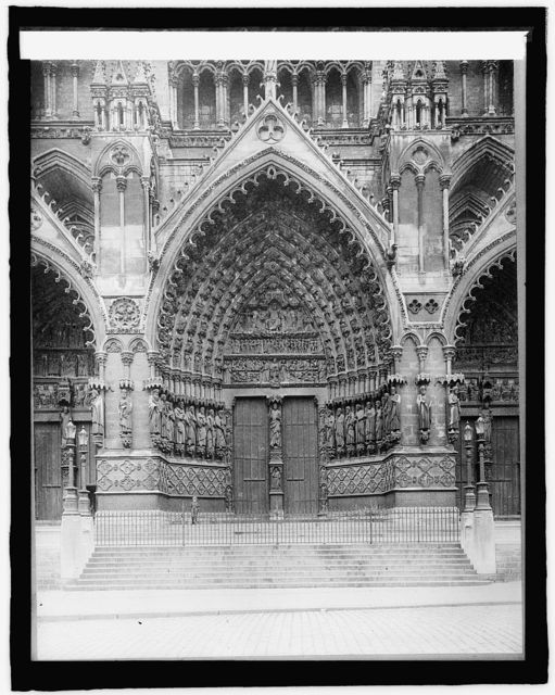 France, Amiens Cathedral, Center Portal