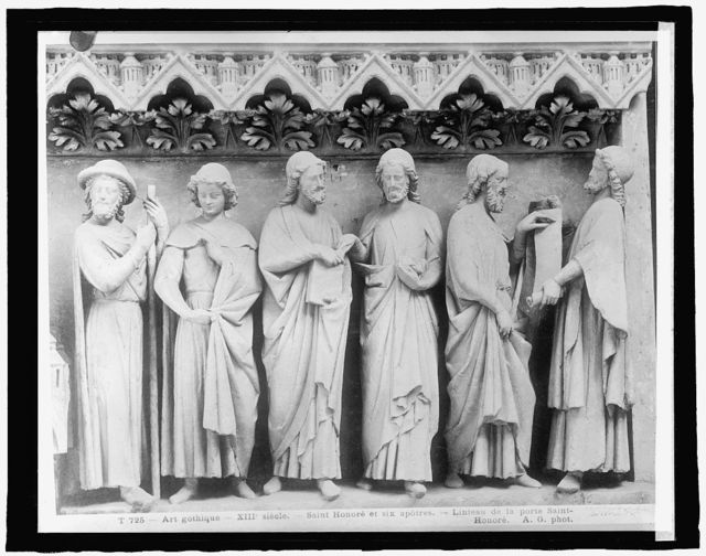 France, Cathedral Amiens, six apostles