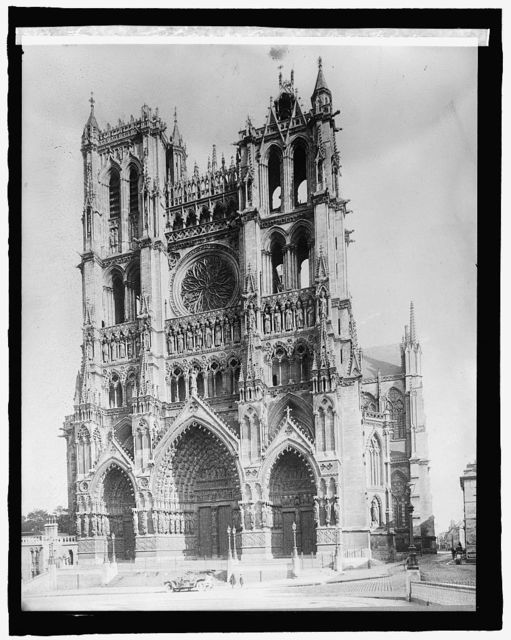 France, Cathedral at Amiens, West Façade
