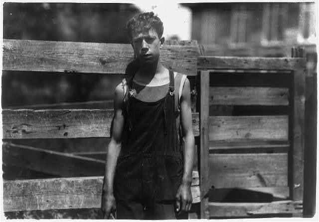 Fred Fowner - 74 Londsdale. Doffer in Union Mill - 15 years old. Doffer two years. $7.74 a week.  Location: Fall River, Massachusetts / Lewis W. Hine.