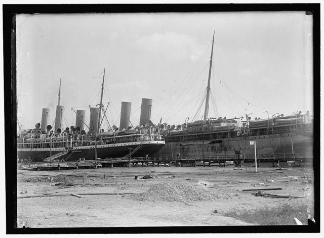 GERMAN SHIPS. INTERNED SHIPS