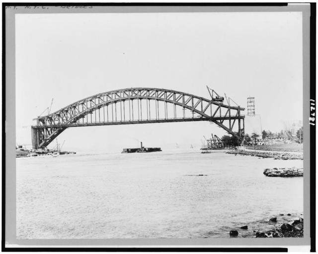 [Hell Gate Bridge being constructed, New York City]