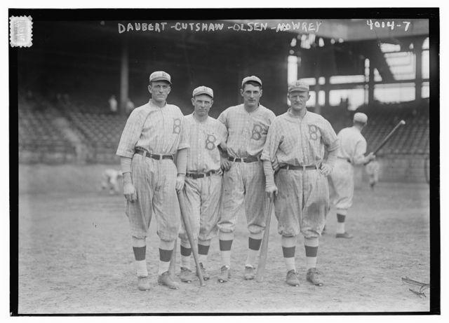 [Jake Daubert, George Cutshaw, Ivy Olson, Mike Mowrey, Brooklyn NL infield (baseball)]