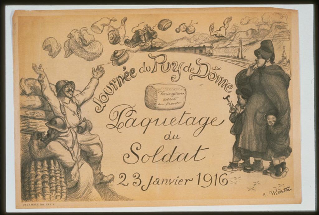 Journée du Puy de Döme. Paquetage du soldat. 23 janvier 1916