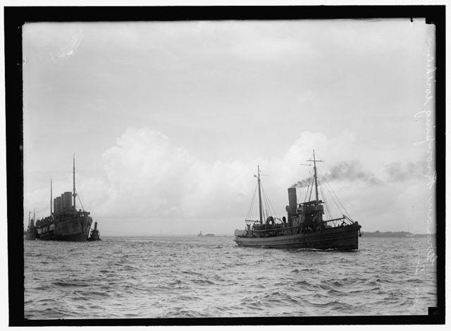 KRON PRINZ WILHELM. GERMAN SHIP, INTERNED IN U.S., IN TOW