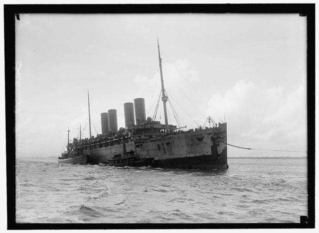 KRON PRINZ WILHELM. GERMAN SHIP, INTERNED IN U.S. IN TOW