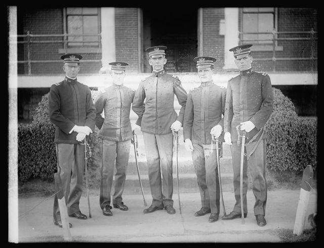 Lt. Jno. H. Wallace, Capt. Jno. W. Downer, Maj. Fred'k T. Austin, Lt. Benj. E. Calte, Lt. Harold C. Vandermier
