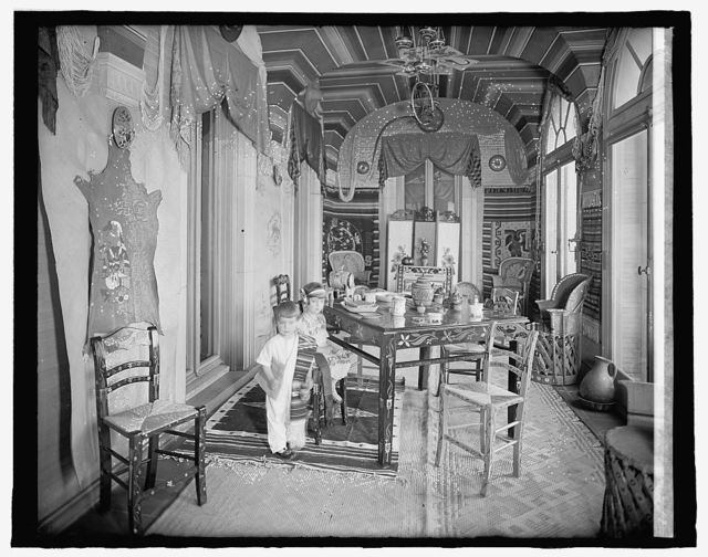 Mexican Embassy, [Washington, D.C.]; Emilia & Jose Telley in Mexican Room
