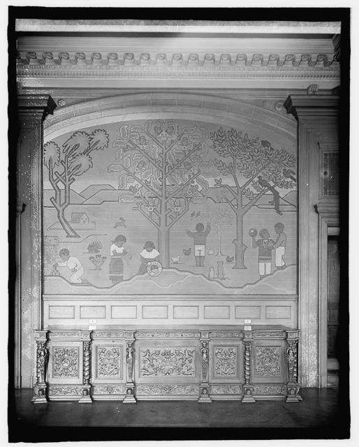 Mexican Embassy, [Washington, D.C.], fresco in dining room