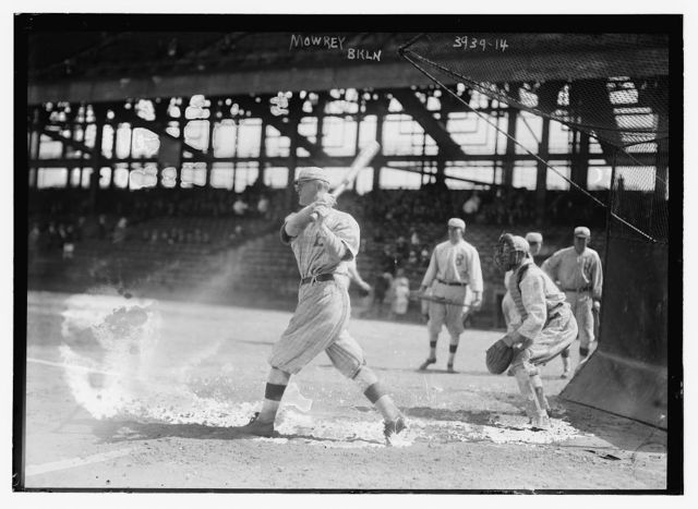 [Mike Mowrey batting, Brooklyn NL (baseball)]