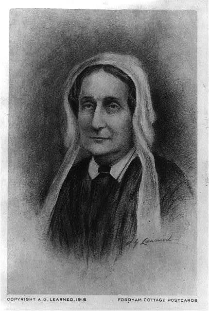 [Mrs. Maria Poe Clemm, head-and-shoulders portrait, facing left]