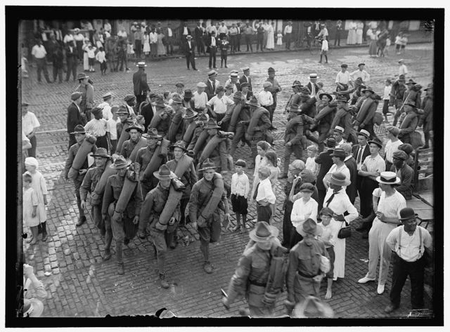 NATIONAL GUARD OF D.C. RETURNING FROM CAMP AT COLONIAL BEACH