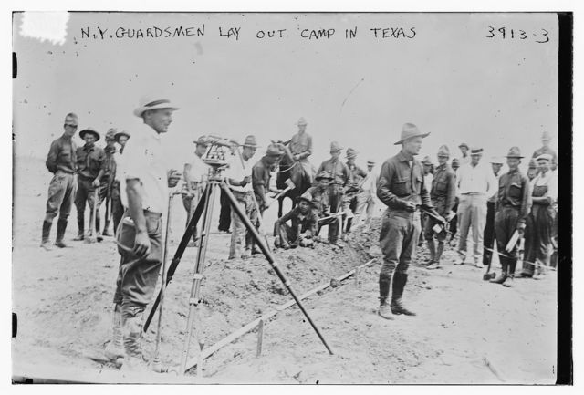 N.Y. Guardsmen lay out camp in Texas