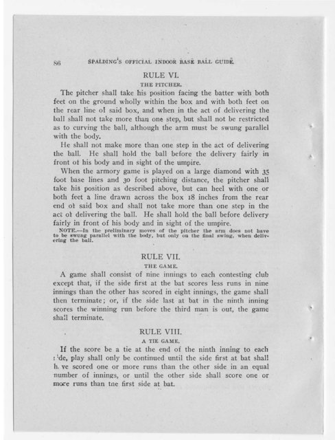 Official indoor base ball guide containing the constitution, 1916
