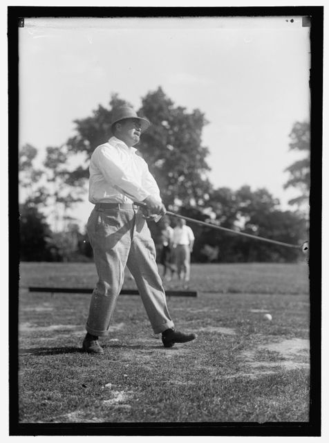 REYNOLDS, ZIBA W. PAY INSPECTOR OF THE NAVY. PLAYING GOLF