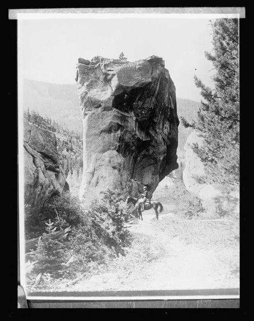 Rocky Mt. Nat. Park, [Colorado]; boulder on trail